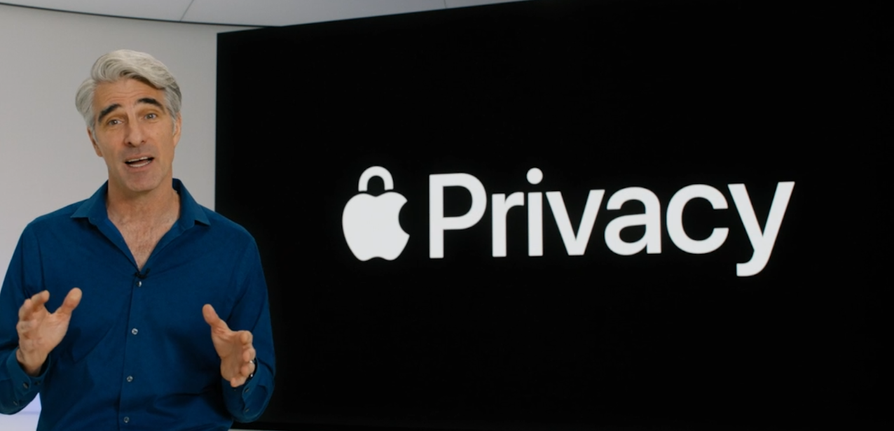 Apple's Craig Federighi talking about Apple's new privacy-related features
